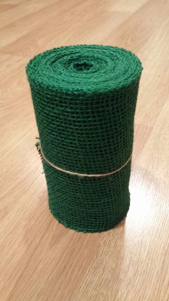 Green burlap ribbon fabric roll for Green burlap ribbon
