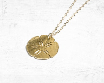 Sand dollar necklace, sea urchin necklace, sea necklace, Beach necklace, ocean charm, gift under 50, gift for her, everyday necklace.