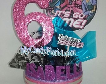 BARBIE SPY SQUAD  Centerpiece or use as a Cake Topper - 3D Glittered Number & Personalized with Child's Name! Great Party Decoration!