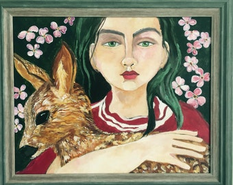 Girl With A Deer