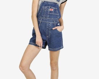 90s Deadstock Denim Overall Shorts! ~ Blue Stonewash Denim! ~ Free US Shipping
