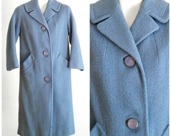 Light blue overcoat with cropped sleeves by Mary Lewis