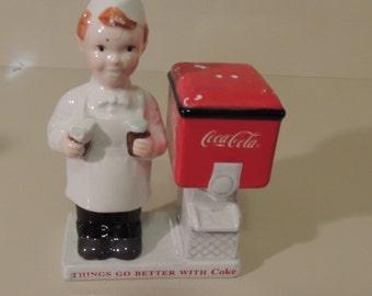 Enesco Coca Cola Soda Jerk Salt and Pepper Set
