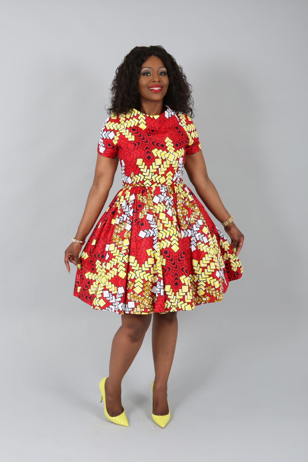 African Clothing New Charry Dress Handmade From Authentic