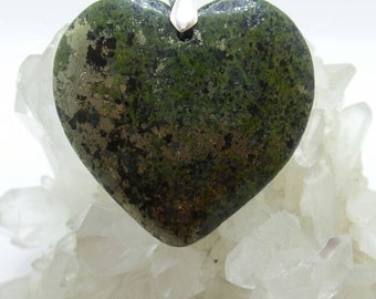 Pyrite with Hematite Heart Pendant.
