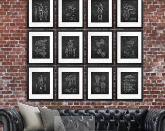 Star Wars Wall Art set of 12 Star Wars Patents Chalkboard Decor Art Prints Boys Bedroom Decor, Starwars Party Decor, Gift for Him