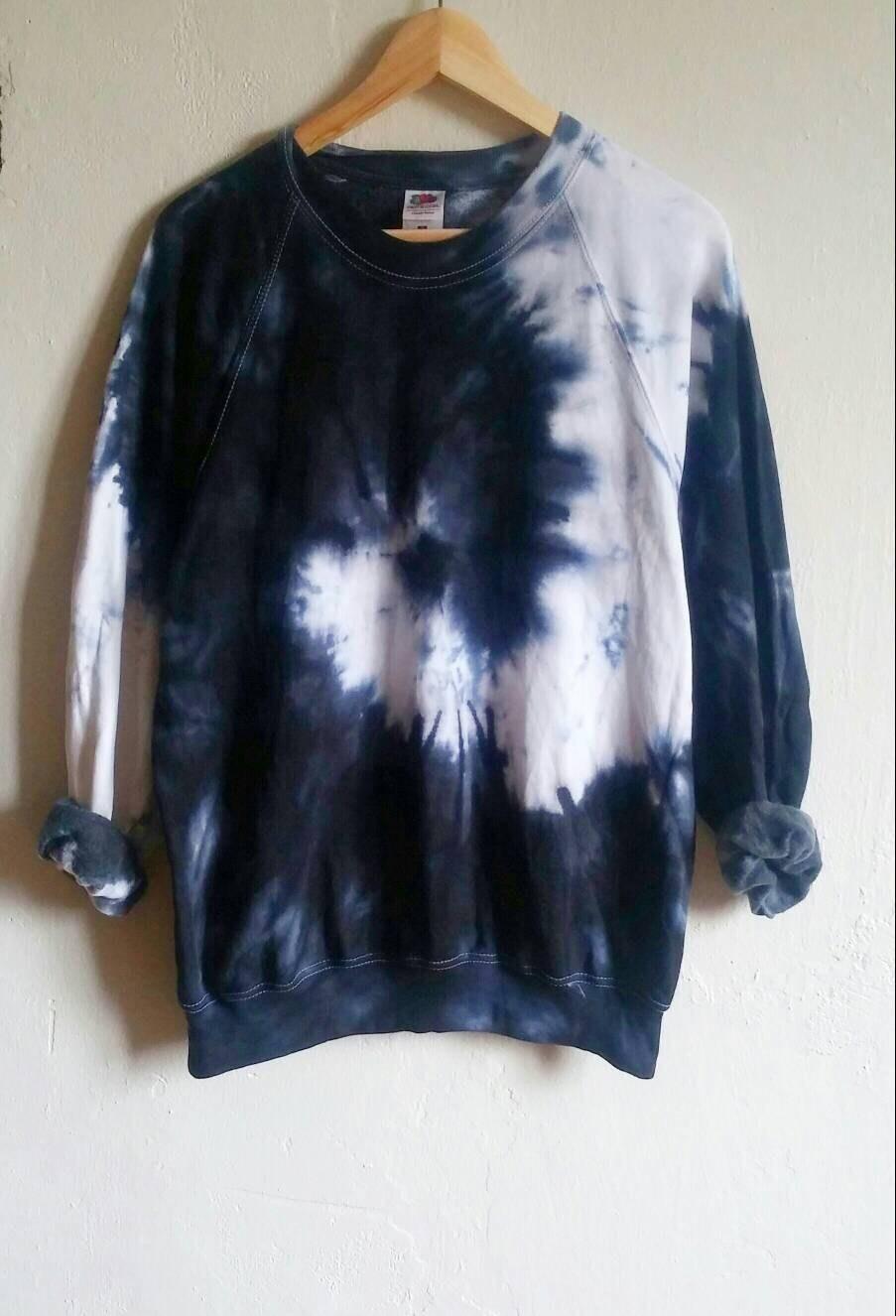 The Black Snake Tie Dye Sweatshirt Tumblr Grunge Hipster