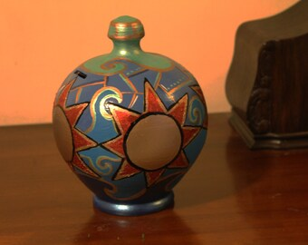 terracotta  hand painted moneybox