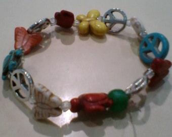 Animal/Peace Charm Bracelet
