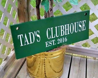 Hanging Outdoor Sign, Large Hanging Sign, Clubhouse Sign, Club House, Treehouse Sign, Tree House, Playhouse, Play House, Custom Signs, Yard