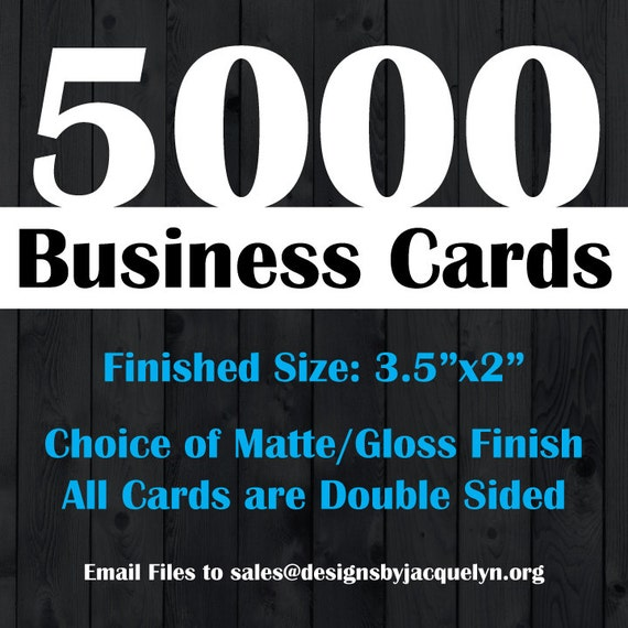Items similar to Business Card Printing Service 5 000 3
