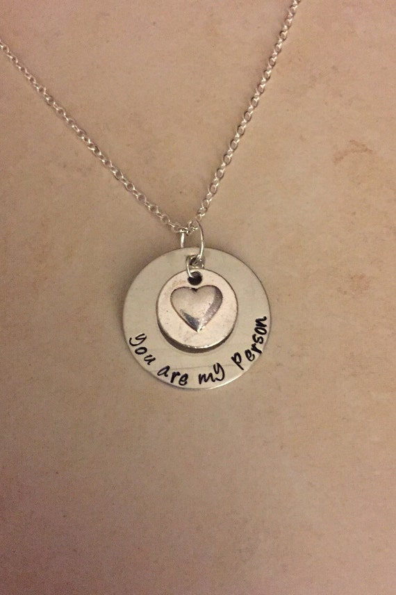 you are my person handmade handsted necklace