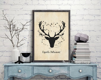 70% OFF SALE Harry Potter Expecto Patronum, Expecto patronum print, Harry Potter expecto patronum poster, Deer Expecto Patronum Art Wall ...