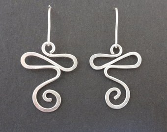 Hand Made Earrings in 925 Sterling Silver