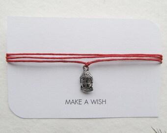 Wish bracelet, buddha bracelet, friendship bracelet, wrap bracelet