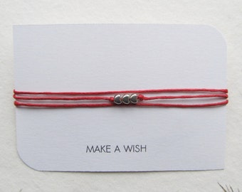 Wish bracelet, friendship bracelet, make a wish bracelet