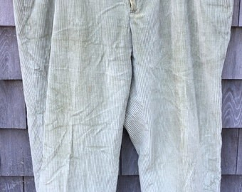Vintage Brooks Brothers Light Tan woodsman thick corduroy pants Men's size 38--Made in USA