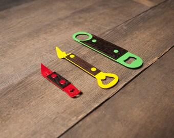 Handmade WENGE bottle opener