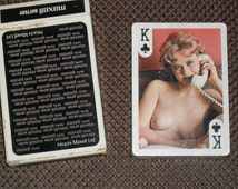 Vintage nude playing cards, beautiful models, Hitachi advertising set of cards, sealed.