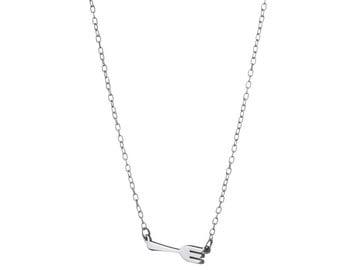 Fork Necklace / Gift for Foodies / Sterling Silver / 14k Gold over Silver / Dainty & Delicate Necklace