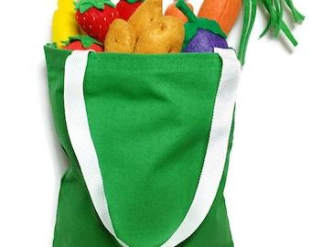 U-Pick Garden Vegetable Set w/ Large Bag - fresh and felt! eco-friendly felt play foods - washable and durable!