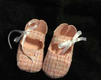 Baby Girl Maryjane Pink Tweed shoes