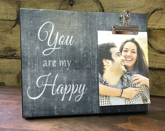You Are My Happy, Valentine's Day Gift, Couples Gift, Birthday Gift, Christmas Gift