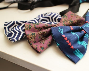 Bold Patterned Bow Tie
