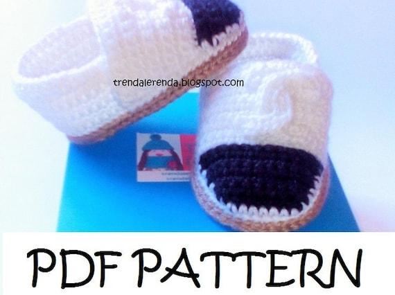 Patrón alpargatas Chanel de crochet de bebé. Espardeñas de ganchillo. Zapatos de bebé.