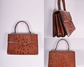 Vintage Embossed Leather Bag
