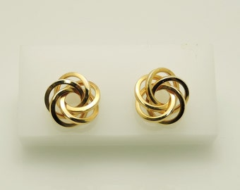 Lovely Lady's Yellow Gold  14 Karat Earrings with post
