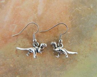 Velociraptor Earrings, T Rex Earrings, Dinosaur Earrings, Dinosaur Jewellery, Raptor Charm, Little Earrings, T Rex Jewelry, Dinosaur Gift