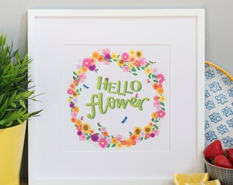 Hello Flower! Print