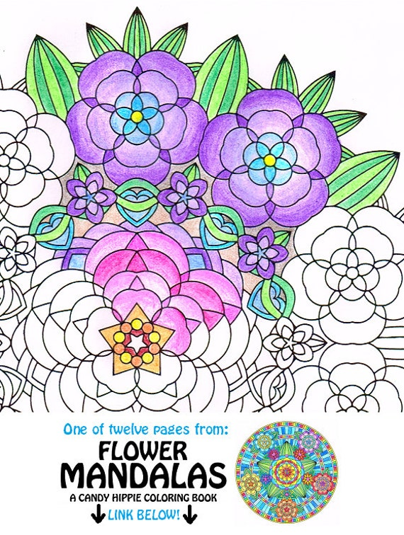 Mandala Coloring Page Flower Garden Instant Download