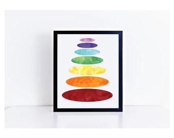 Printable Chakra Art - Home Decor Wall Art - Home Decor Printable - Meditation Aid - Chakra Printable - Chakra Meditation Wall Art