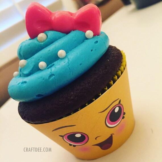 Cupcake queen cupcake wrapper shopkins birthday party