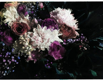 hand coloured floral photographic print #4