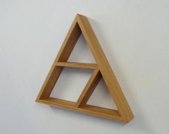 Triangle Wooden Shelf // Geometric Shelf // Blackbutt