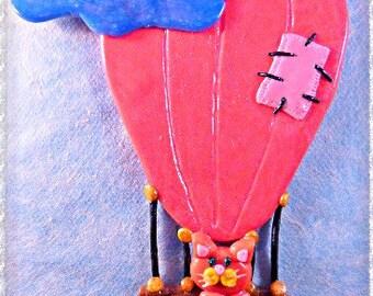 Hot air balloon, Cat art, Balloon art, Home decor