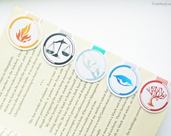 Factions Magnetic Bookmarks Pack of 5