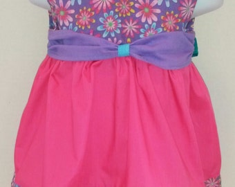 Baby Girl's Dress Pink, Purple Floral Size (9-12M)