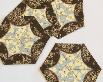 Quilted Star Coasters - set of four