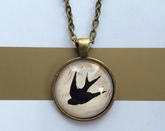 Flying Bird Pendant Necklace