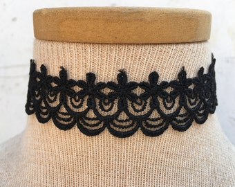 sale, 15% off, Lace Choker, Statement Choker, Black Choker, Choker Necklace, detail Choker, lace choker, wide choker, vintage choker