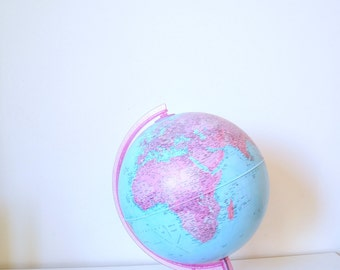 globe, world map, map of the world, lighting