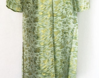 Vintage 1960's Green and Gold Brocade 3 Button Jacket