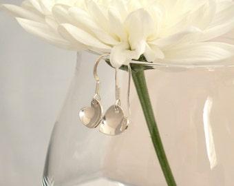 Sterling silver tiny heart earrings