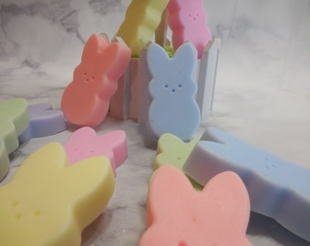 Marshmallow Bunny Soap (6 pk) - Bunny Party Favor - Easter Soap - Handmade Kids Easter Basket Gift - Rabbit - Moisturizing Decorative Soap