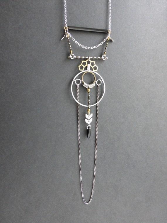 collier art d co sailor saint valentin sautoir laiton. Black Bedroom Furniture Sets. Home Design Ideas