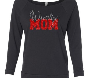 Wrestling Shirt. Wrestle Mom. Wrestler Shirt. Wrestling Mom. Shirt for mom. Off Shoulder Shirt. 3/4 Sleeve Shirt. Lightweight Shirt